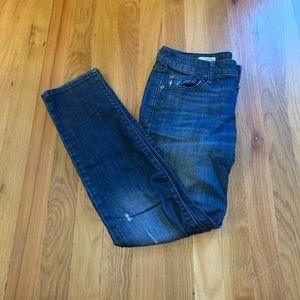 Gap 1969 distressed skinny jeans